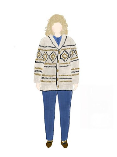 MyBodyModel Gambier Jacket Sweater 7 Sketch by Diane